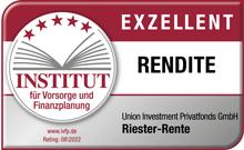 UniProfiRente Select - Siegel des Instituts für Vorsorge und Finanzplanung